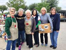 Left to right: Gayle England, Susan Hebert, Marti Conley, Sue Cousin, Rhonda Kraemer and Helen Adamson