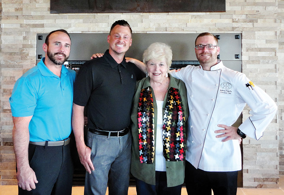 Jeremy, Rhett, Joan and Chef Aubrey at the Grill