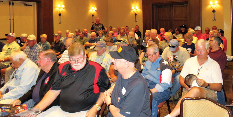 We filled the room at the May Gun Club meeting.