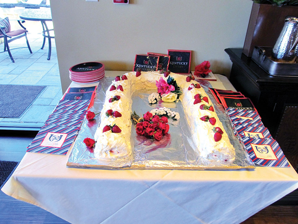 The cake prepared by Jeanne De Arment