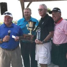 Joe Cooper, MGA President; David Thatcher, Golf Pro; Lyle Nevius Tournament Champion; William Vess, MGA Treasurer