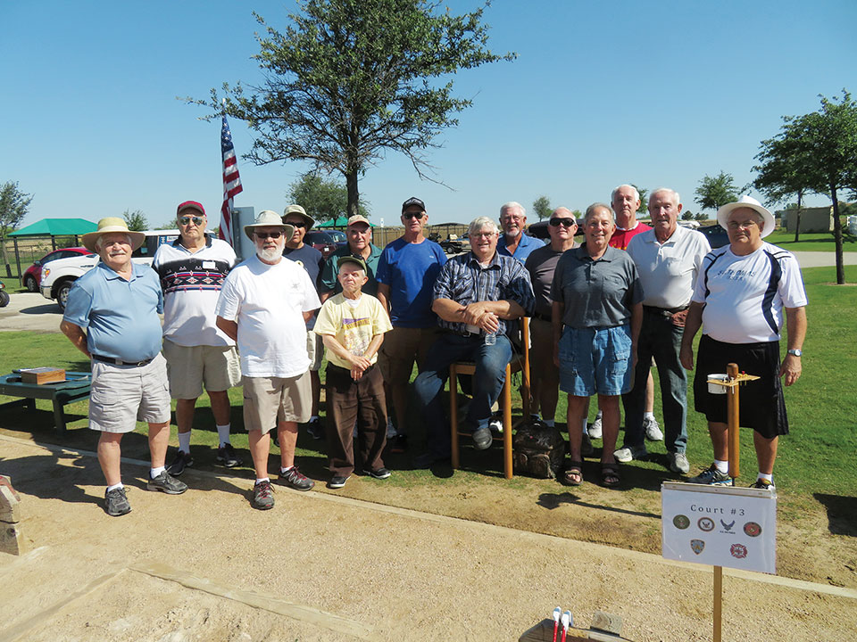The 2017 Robson Ranch Denton Veteran's Horseshoe Tournament participants