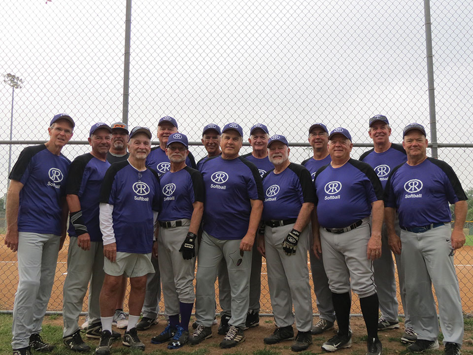 The team members, left to right: David McKie, Johnny Blecher, Coach Paul Dorwaldt, Coach Jerry Killingsworth, Mick Calverly, Bob Laderach, Jim Reese, Randy Brewer, John Thompson, Kelly Petre, George Wendt, Eddie Reeves, Dale Hill and Pat Powers