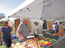 Doug ensures there is a variety of fresh products every Friday.