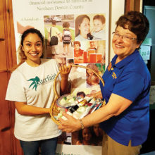 Kiwanis Club collects personal care products for Interfaith Ministries.