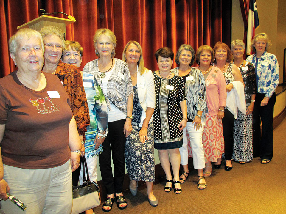 New members at the June luncheon
