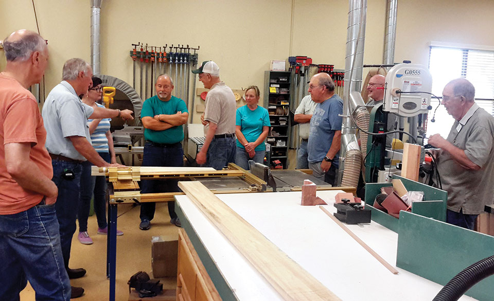 Tour the woodshop in July