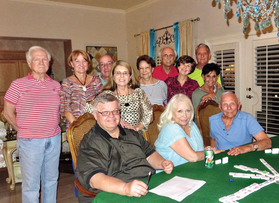 Sitting: Ed Heberlein, Vivian Wright, Jere Bone; standing: Al Wright, Melodye Rogers, Mike Aramanda, Kathy Heberlein, Millie Aramanda, Pete Toppan, Nancy Toppan, Bobby Rogers and Vickie Bone