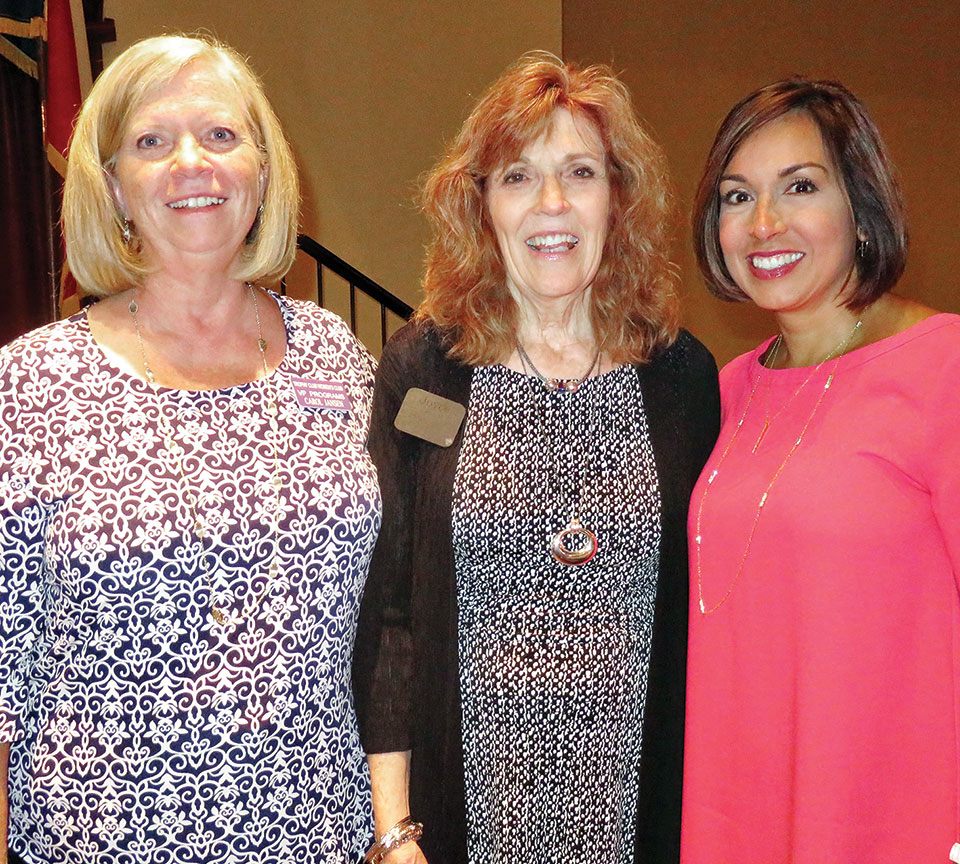 Deborah Ferguson with Women's Club friends