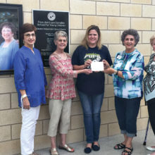 After Schoolers Board Members: Helen Hayes, Gayle England, Felicia Sprayberry (principal of Gonzalez School), Darla Chupp and Grace Ann Gallagher