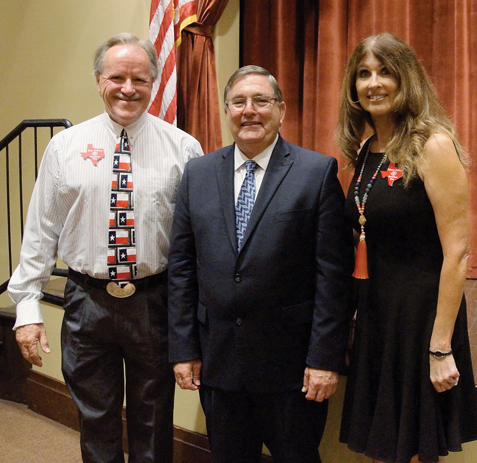 Club president Russ Bafford and his wife Rebecca are pictured with Congressman Burgess; photo courtesy of Dick Remski