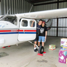Donations were flown to help survivors of Hurricane Harvey.