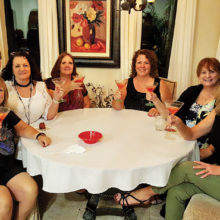Some of the lady Rockers in the Rock and Roll Martini Group