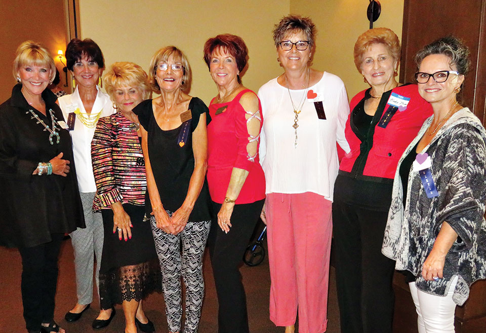 The greeters had a great time welcoming new members and guests at the September luncheon.