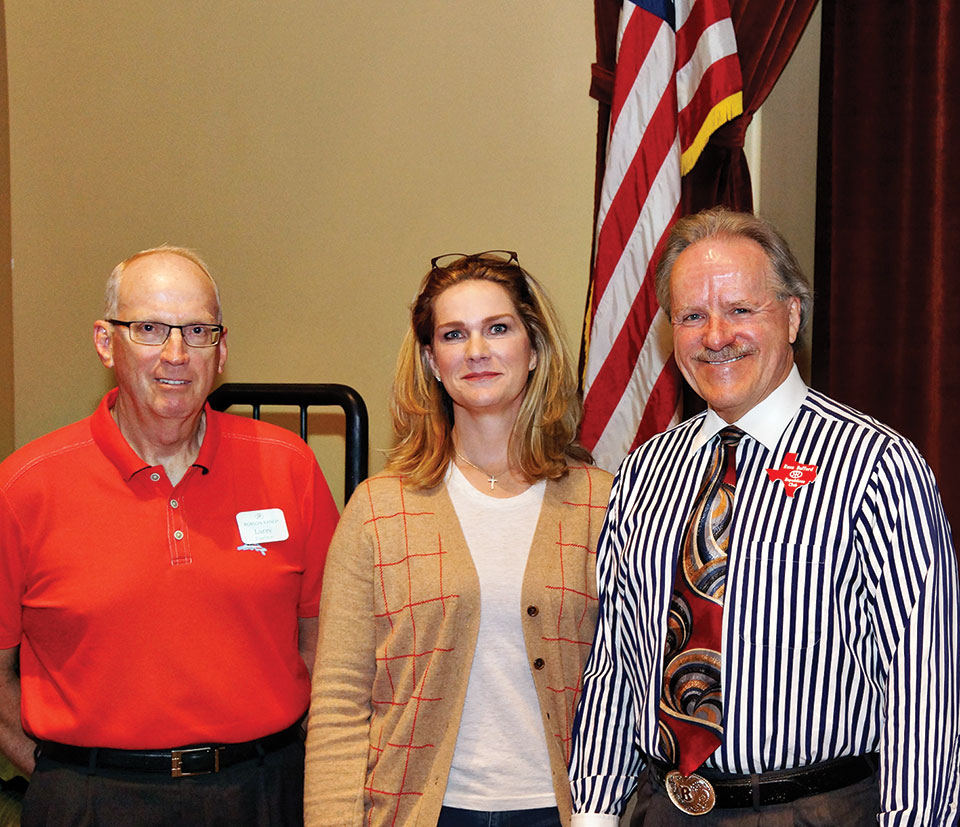 Republican Club Vice President Larry Carlson, Catherine Engelbrecht and President Russ Bafford