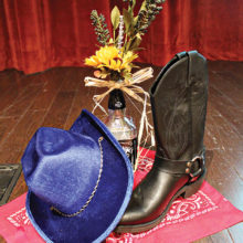 Boot and hat décor