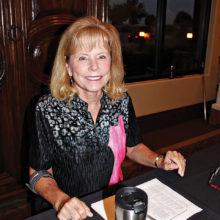 Linda Klovans at registration