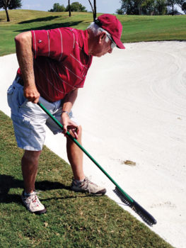 Sand traps are not always raked by players