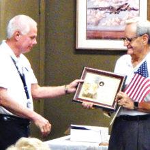 Hal receiving his award.