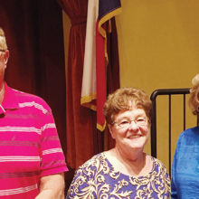 New SOT officers, left to right: Darin Burk, Susan Galbraith, Donna Chabot; photo by Sam Goodrich