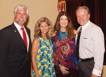 Left to right: Representative Lynn Stucky and his wife Lori; Republican Club President Russ Bafford and his wife Rebecca