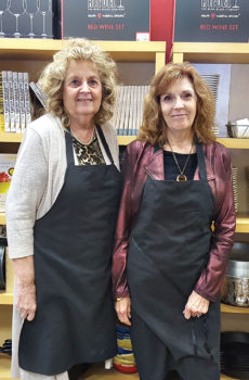 Hostesses Joyce Ambre and Joyce Frey arranged the special culinary event.