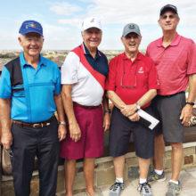 Gregor Smith, Secretary; Tom Prohaska, President; Norm Leggett, Treasurer; Ron Schwertner, Vice President