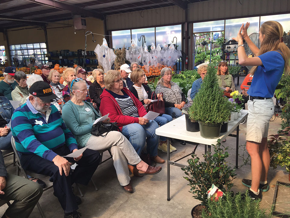 The Robson Ranch Garden Club learned about winter gardening.