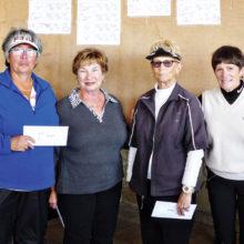 Fourth Flight winners from left to right: Jeanie Martinez, Linda Farmer, Judy Cromer, Linda Watrak