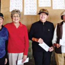 Third Flight winners from left to right: Brenda Alford, Juan Del Tillman, Darlene Lamb, Donna Phillips