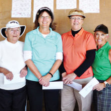 Second flight winners from left to right: Gabie Bull, Malinda Hall, Althea Parent, Joyce Marshall