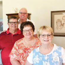 Hosts and helpers: Karen Vissar, Jacque Geist, Jack Geist and Marty Vissar.