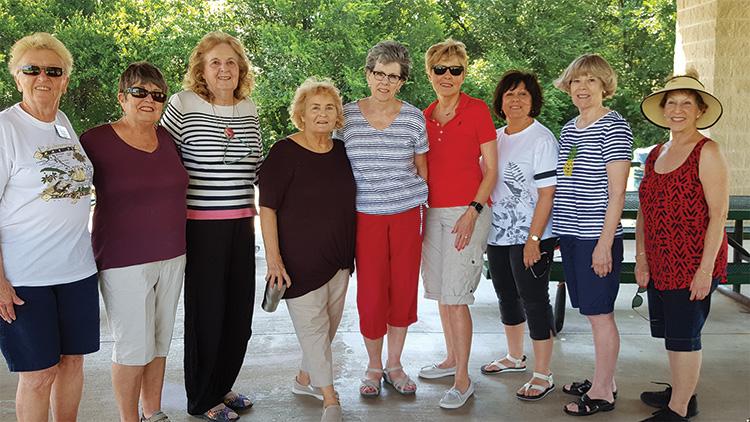 Dorothy Edlund, Carol Cooley, Joyce Ambre, Betty Garner, Jennifer Rahn, Mala Bowdouris, Rosemary Simecek, Rosemary Weinstein and Carol Solow.