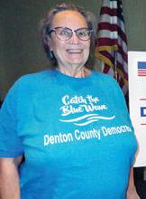 Sandy Swan, Executive Director of the Denton County Democratic Party.