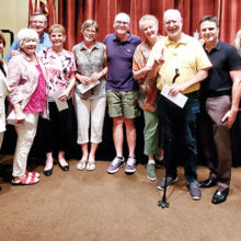 First place team members were Alan and Sandy Boyd, JB and Judy Spalding, Sarah Connelley, Sara Wood, Jim and Lynn D'endremont.