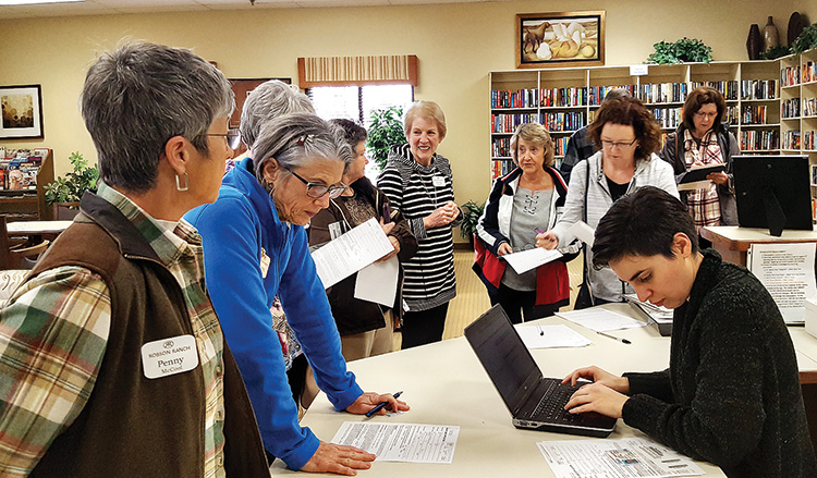 Robson residents utilize Denton Library services.