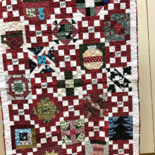 Christmas block of the month quilt
