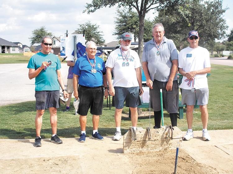 Left to right: Doug Hagan, Joey Misiaszek, Steve Bentley, Bob Cook, and Terry Duffield