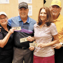 First place winners: Cindy and Rick Sterling, Gale and Doyle Hicks