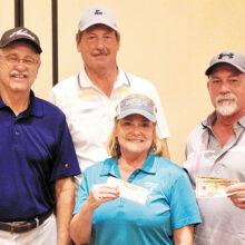 Second place winners: Larry Dougherty, Wayne Beeler, Alan Smith, and Patty Scott
