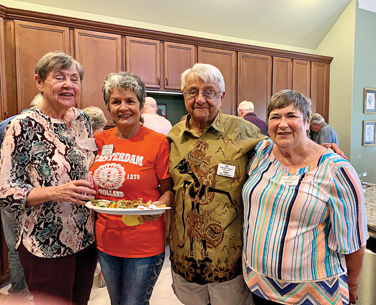 Pictured are Ineke Dabelic, Lenie Christensen, Fred and Diane van Naerssen.