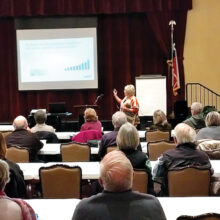 Robson Ranch HOA Living Well Seminar attendees listening to the presentation by Dr. Julie Gardner