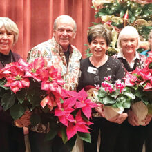 Members of the RRGC who won table centerpieces