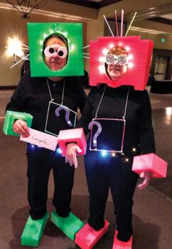 Most creative costume – Jackie Drain and Stan Bugala