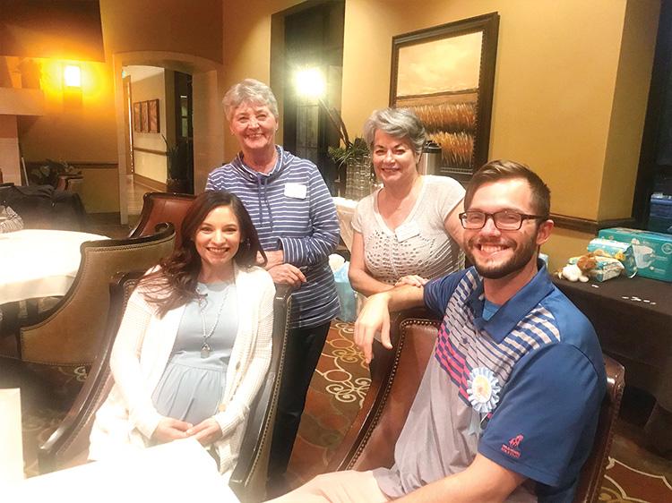 Linda Stuart, Theresa Peoples with Shelbi and Jonathan Berg