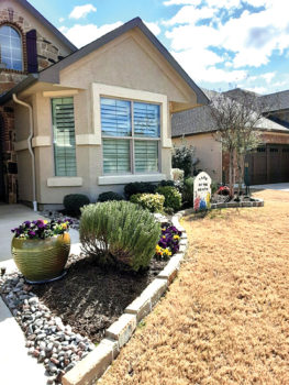 The Robson Ranch Garden Club elected Ms. Ann Roger's home at 12113 Willet Way as the February Yard of the Month. Ann does all her own front and backyard gardening. We love the rosemary plant and the pansy pot at the front door welcoming visitors.