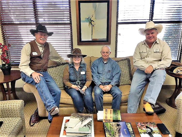 The Lonesome Dove discussion panel (left to right): Dave Parker, Susan Parker, Lewis Toland, and Alan Albarran