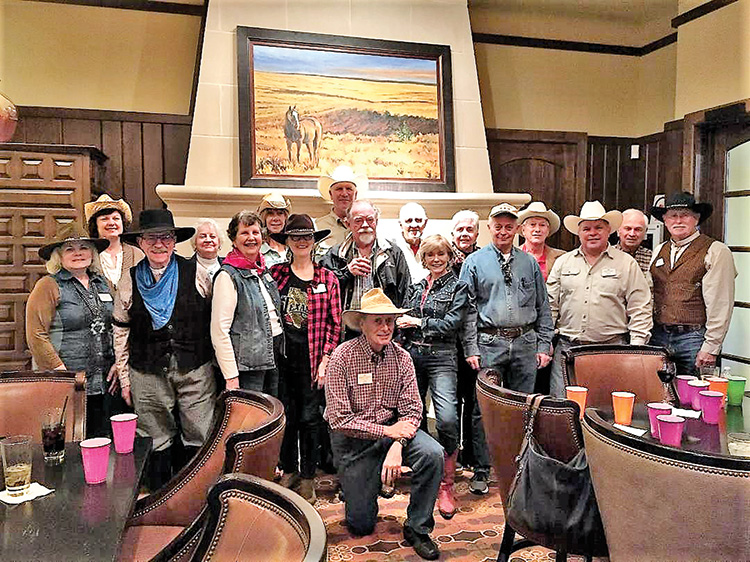 A lot of cowhands attended the post-event social!
