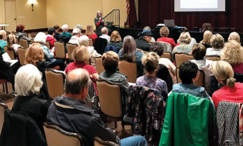 The Living Well Organizational Skills Seminar given by Michele Ray Williams in the Robson Ranch Clubhouse on March 4, 2020