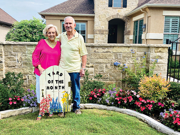Glen and Glenda Carr have the June Yard of the Month.